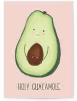 This is a green new baby greeting card by Chelsea And Marbles Paper called Holy Guacamole with standard printing on signature in greeting cards.