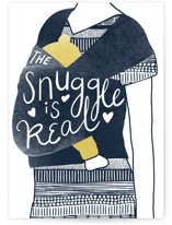 This is a blue new baby greeting card by Leanne Friedberg called Snuggles with standard printing on signature in greeting cards.