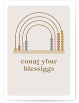 This is a brown new baby greeting card by Susan Zinader called Count your Blessings with standard printing on signature in greeting cards.