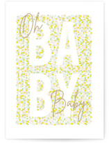 This is a green new baby greeting card by Creo Study called New Journey with standard printing on signature in greeting cards.