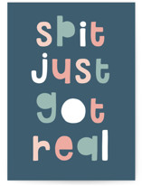 This is a blue new baby greeting card by Christie Garcia called Real Spit with standard printing on signature in greeting cards.