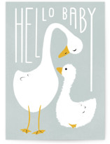 This is a blue new baby greeting card by Gwen Bedat called Welcome to the pond with standard printing on signature in greeting cards.