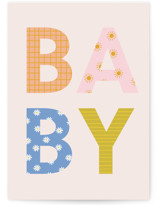 This is a pink new baby greeting card by Ellen Schlegelmilch called Baby with standard printing on signature in greeting cards.