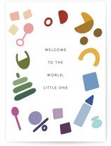 This is a blue new baby greeting card by Morgan Kendall called Tiny Treasures with standard printing on signature in greeting cards.