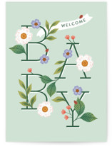This is a green new baby greeting card by Paper Raven Co. called Sweet Little Baby with standard printing on signature in greeting cards.