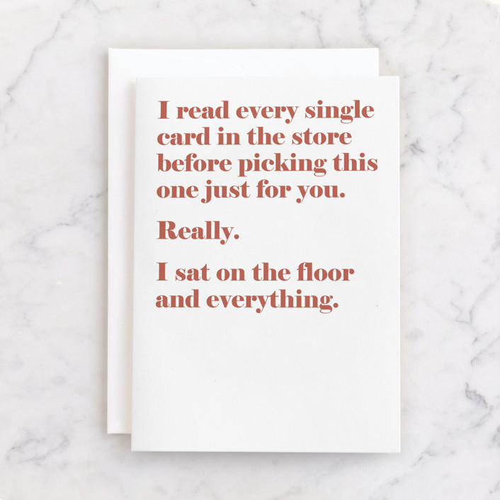 """""""every single card"""" - Individual Birthday Greeting Cards in Rust by JoAnn Jinks."""