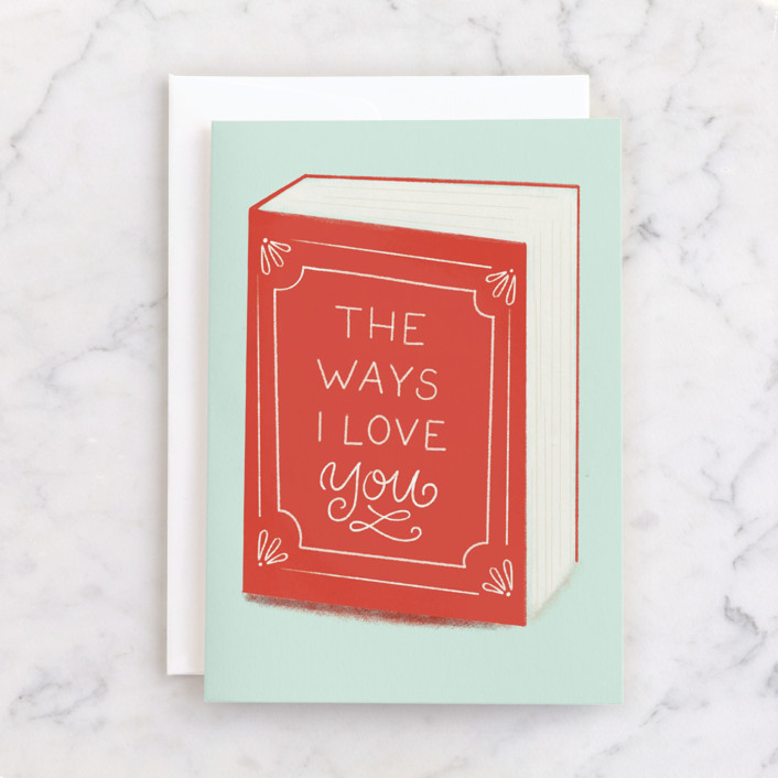 """""""The Ways I Love you"""" - Individual Birthday Greeting Cards in Holly by Itsy Belle Studio."""