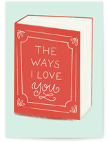 This is a red greeting card by Itsy Belle Studio called The Ways I Love you with standard printing on signature in greeting cards.