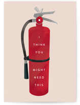 This is a red greeting card by Stephanie Biller called So Hot with standard printing on signature in greeting cards.