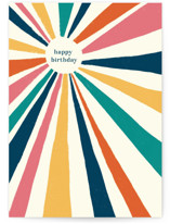 This is a colorful birthday card by Kristen Knechtel called Vintage Sunburst with standard printing on signature in greeting cards.