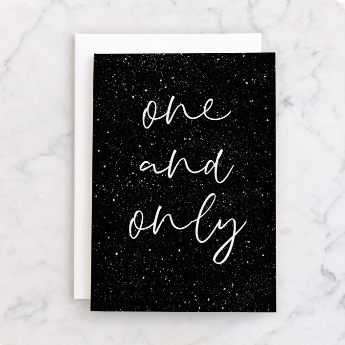 """""""One and Only"""" - Individual Birthday Greeting Cards in Night sky by Sumak Studio."""