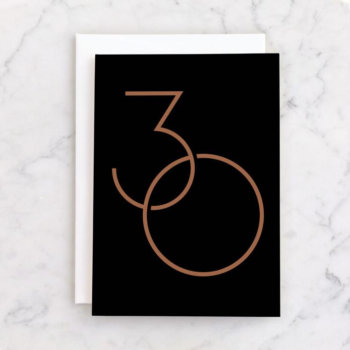 """30th Birthday"" - Individual Birthday Greeting Cards in Ink by GeekInk Design."
