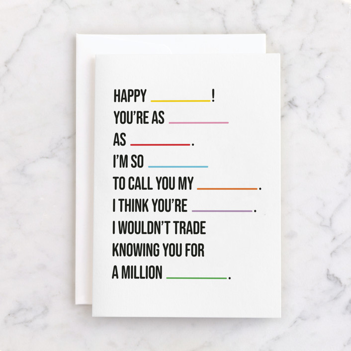 """""""You Said It"""" - Individual Birthday Greeting Cards in Colorful by mo kelley."""