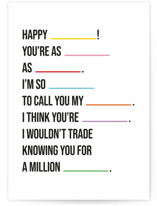 This is a colorful birthday card by mo kelley called You Said It with standard printing on signature in greeting cards.