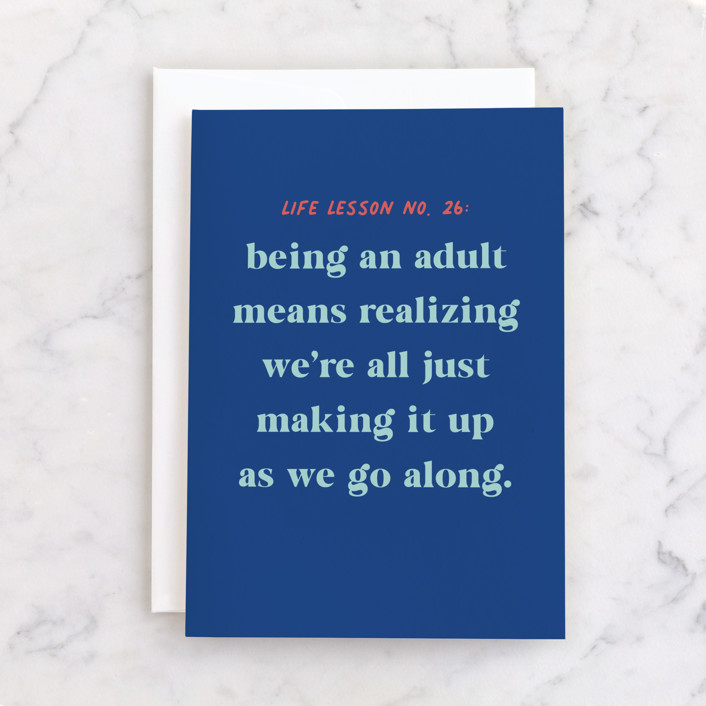 """""""Adulting Club"""" - Individual Birthday Greeting Cards in Royal by Everett Paper Goods."""