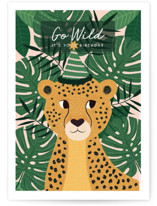 This is a brown birthday card by Sabrin Deirani called Have a Wild birthday with standard printing on signature in greeting cards.