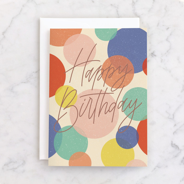"""""""Birthday Confetti"""" - Individual Birthday Greeting Cards in Colorful by Erin German."""