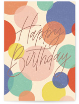 This is a blue birthday card by Erin German called Birthday Confetti with standard printing on signature in greeting cards.