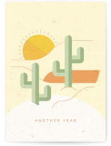 This is a yellow birthday card by Kiersten Garner called Desert Adventure with standard printing on signature in greeting cards.
