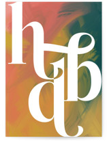 This is a colorful birthday card by Anna Elder called Abstract HBD with standard printing on signature in greeting cards.