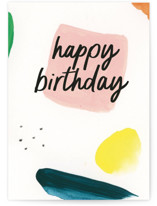 This is a beige birthday card by Lindsay Megahed called Birthday Doodles with standard printing on signature in greeting cards.