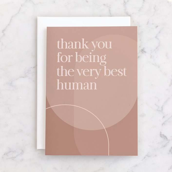 """""""very best human"""" - Individual Birthday Greeting Cards in Ochre by JoAnn Jinks."""