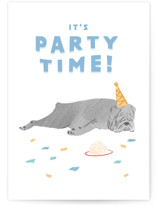 This is a white birthday card by Jennifer A. Smith called Party Animal with standard printing on signature in greeting cards.