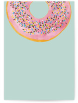 This is a blue greeting card by Kerry Doyle - Paper Dahlia called Everyone Loves Donuts with standard printing on signature in greeting cards.