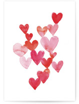 This is a pink greeting card by Claudia Orengo called Love is around you (1) with standard printing on signature in greeting cards.