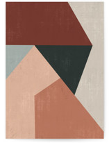 This is a grey greeting card by Angel Walker called Geo Abstract with standard printing on signature in greeting cards.