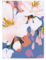 This is a blue greeting card by Angela Marzuki called romance in spring with standard printing on signature in greeting cards.