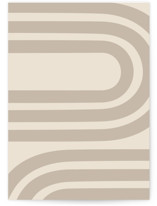 This is a beige greeting card by Iveta Angelova called Winding with standard printing on signature in greeting cards.