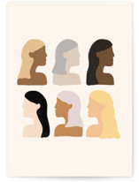 This is a beige greeting card by Amanda Houston called Girls Support Girls with standard printing on signature in greeting cards.