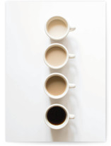 This is a brown greeting card by Katie Short called Coffee Cathy with standard printing on signature in greeting cards.