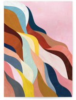 This is a pink greeting card by melanie mikecz called Natural Fluctuation with standard printing on signature in greeting cards.