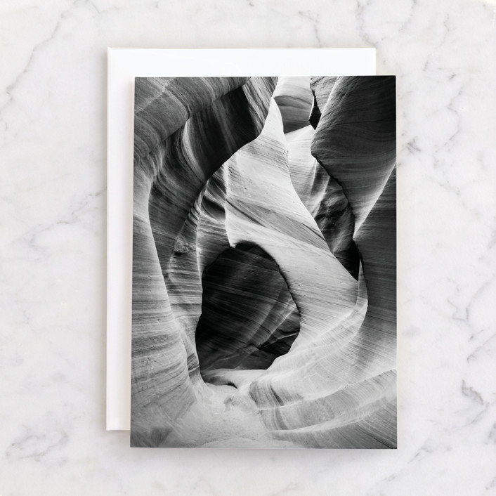 """""""Canyon"""" - Individual Blank Greeting Cards in Onyx by Kamala Nahas."""