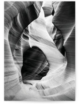 This is a black greeting card by Kamala Nahas called Canyon with standard printing on signature in greeting cards.