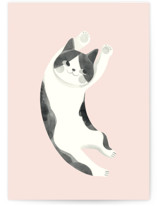 This is a pink greeting card by Vivian Yiwing called Up with standard printing on signature in greeting cards.