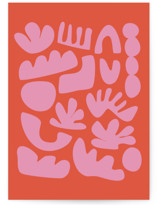 This is a orange greeting card by Beth Vassalo called Simple Play with standard printing on signature in greeting cards.