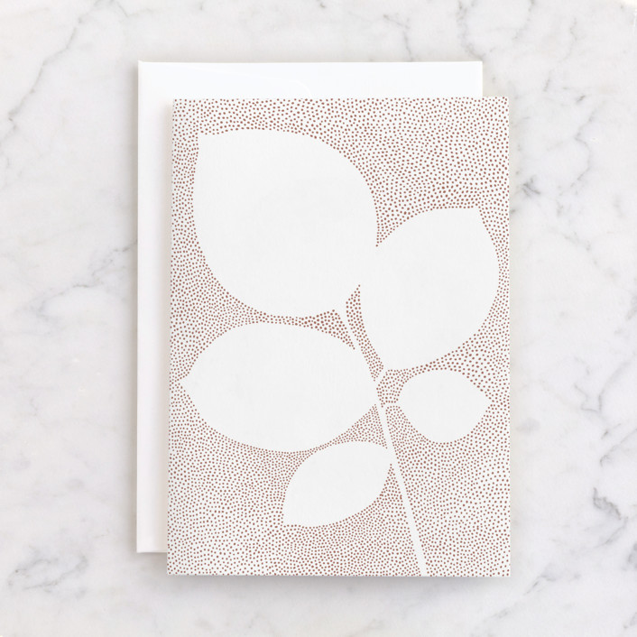 """""""Pointillist rose leaves"""" - Individual Blank Greeting Cards in Eggshell by Jennifer Wick."""