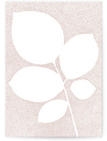 This is a grey greeting card by Jennifer Wick called Pointillist rose leaves with standard printing on signature in greeting cards.