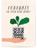 This is a beige congratulations card by Tanya Lee of Frooted Design called Making myself at home with standard printing on signature in greeting cards.