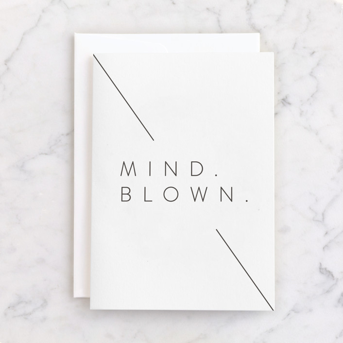 """""""Mind Blown"""" - Individual Congrats Greeting Cards in Raven by Lindsay Stetson Thompson."""