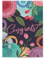This is a purple congratulations card by Noonday Design called Congrats with standard printing on signature in greeting cards.