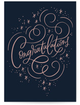 This is a blue congratulations card by Alethea and Ruth called Congratulation Sparkle with standard printing on signature in greeting cards.