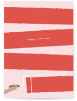 This is a pink congratulations card by Ekko Studio called Happy New Home with standard printing on signature in greeting cards.