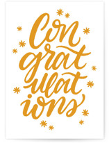 This is a yellow congratulations card by Snow and Ivy called Shimmer Congrats with standard printing on signature in greeting cards.