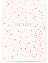 This is a pink congratulations card by Lori Wemple called Starry Celebration with standard printing on signature in greeting cards.