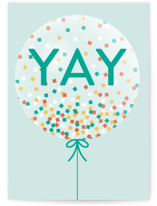 This is a blue congratulations card by Kelly Williams called Yay Confetti with standard printing on signature in greeting cards.