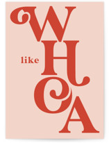 This is a orange congratulations card by Lori Wemple called WHOA with standard printing on signature in greeting cards.